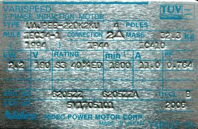 Yaskawa UAJPEE-22DK2KU label image