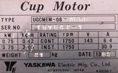 Yaskawa UGCMEM-08-MC58 label image