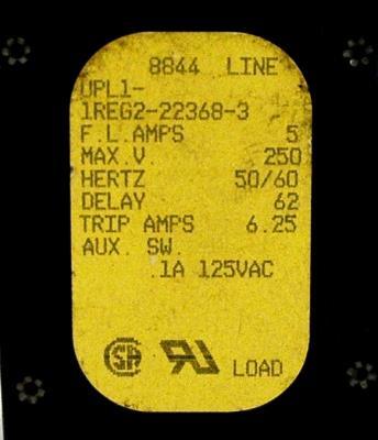 AIRPAX UPL1-1REG2-22368-3-5A image