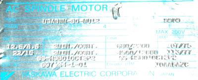 Yaskawa USABWM-80-MU12 label image