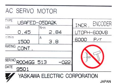 Cnc Servo Motors Yaskawa Usafed 05da2k Motors Ac Servo