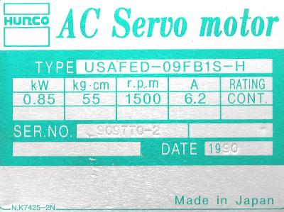 Yaskawa USAFED-09FB1S-H label image
