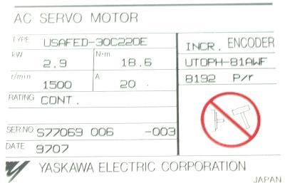 Yaskawa USAFED-30C22OE label image