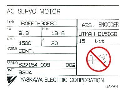 Yaskawa USAFED-30FS2 label image