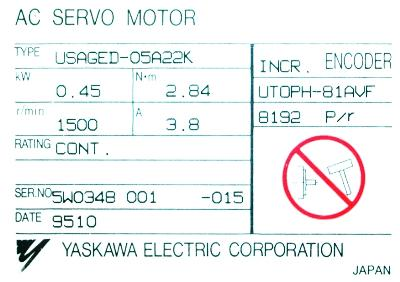 Yaskawa USAGED-05A22K label image