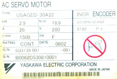 Yaskawa USAGED-30A22 image