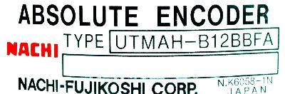 Yaskawa UTMAH-B12BBFA label image