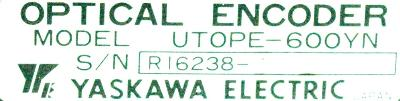 Yaskawa UTOPE-600YN label image