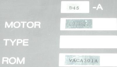 Okuma VAC-II D45A label image