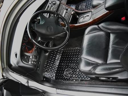Acura TL Diamond Plate Aluminum Floor Mats Custom Fit Front - Acura floor mats