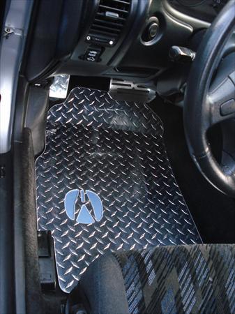 Integra 94 00 Diamond Plate Aluminum Floor Mats Custom