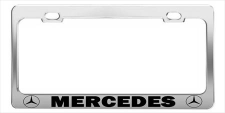 MERCEDES LINCOLN  License Plate Frames > Chrome STEEL Tag Holder > CAR HOLDER