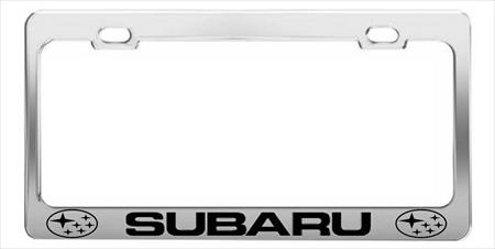 SUBARU  CAR  License Plate Frames > Chrome STEEL Tag Holder > CAR HOLDER