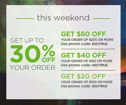 Save up to 30% off your order! Use Code: 60LEMON