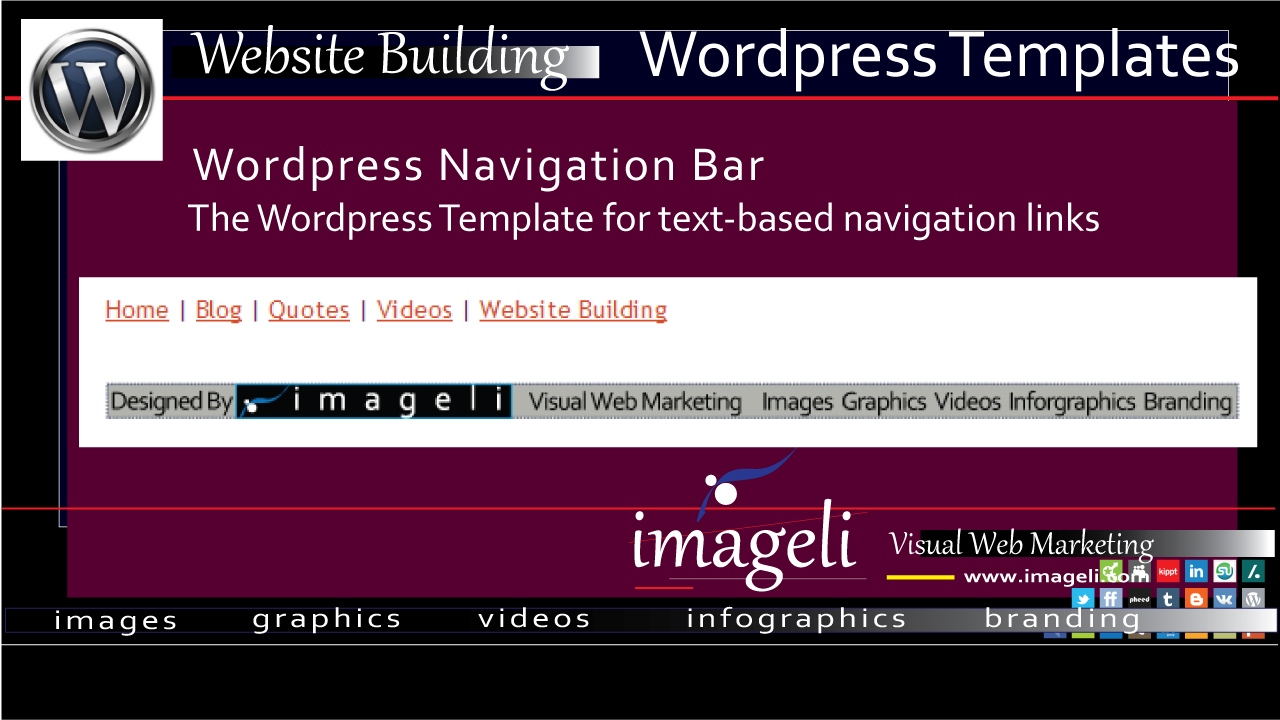 WordPress Navigation Bar: WordPress Templates for The Text-based Navigation Links featured image