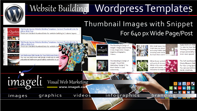 WordPress Templates: Thumbnail Images with Snippet for 640px Column Width Page/Post thumbnail