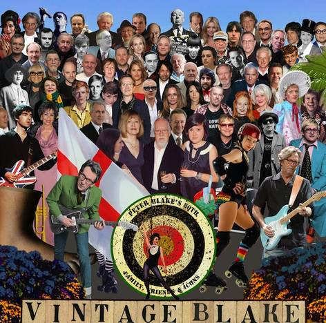 Sgt. Pepper's Lonely Hearts Club Band, 2012, nuevo collage, artista peter thomas blake, david bowie, elton john, mick jagger, ian curtis, amy winehouse