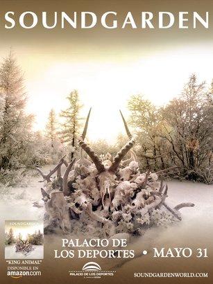 soundgarden en méxico poster, 2013, conciertos, eventos, palacio de los deportes, 31 de mayo 2013, live, soundgarden, king animal, new album, nuevo disco