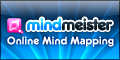 Mindmeister Mind Mapping Template. Small Rectangular Format Website Banner Size:120x60px
