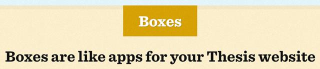 Thesis Premium WordPress Theme. Boxes