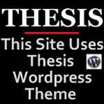 Thesis WordPress Theme Marketing. Square Format Website Banner.Image size:150x150px