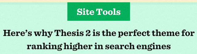 Thesis Premium WordPress Theme. Tools