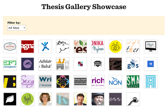 thesis theme gallery