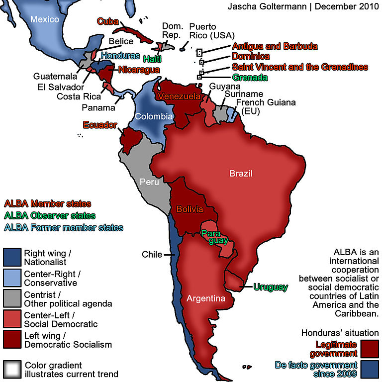 Political Map Of Central America And South America