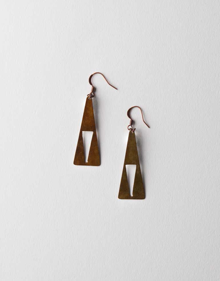 Cut-out Triangle Earrings