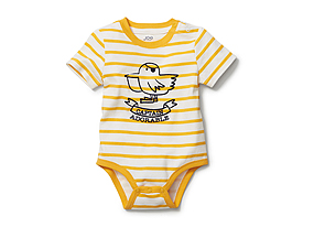 Kids Baby Boy Graphic Stripe Onesie