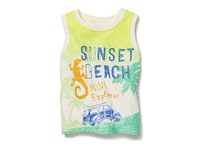 Kids Baby Boy Sleeveless Graphic Tee