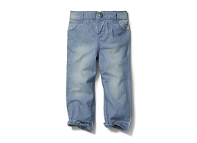 Kids Baby Girl Faded Jean