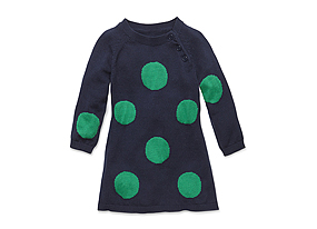 Kids Baby Girl Dot Sweaterdress