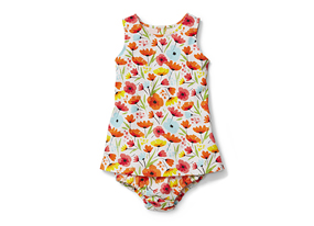 Kids Baby Girl Print Tunic Dress