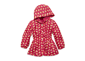 Kids Baby Girl Print Raincoat