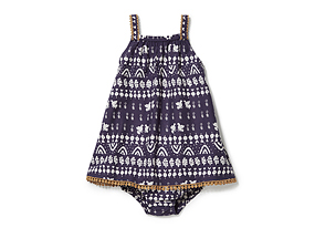 Kids Baby Girl Tribal Print Dress