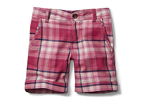 Kids Kid Girl Plaid Short