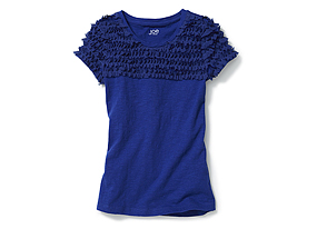 Kids Kid Girl Ruffle Tee