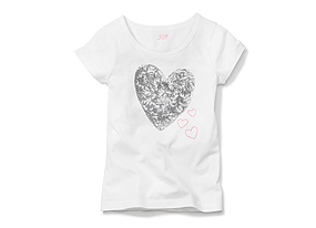 Kids Kid Girl Sequin Graphic Tee
