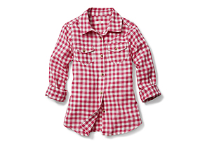 Kids Kid Girl Check Shirt