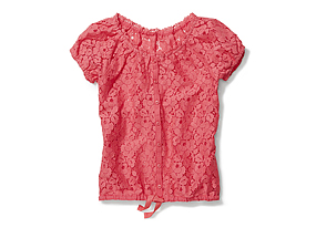 Kids Kid Girl Lace Tee