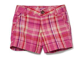 Kids Kid Girl Check Short