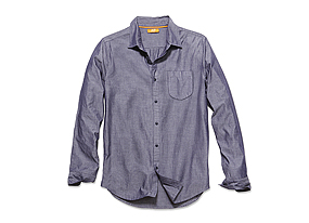 Men Tops Chambray Shirt