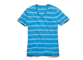 Men Tops Stripe Slub Tee