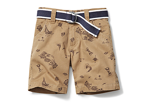 Kids Toddler Boy Belted Short
