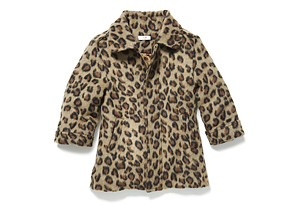 Kids Toddler Girl Animal Print Jacket