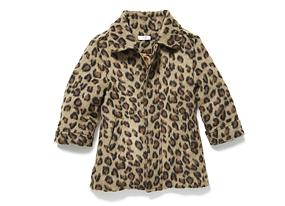 Kids Toddler Girl Animal Print Jacket