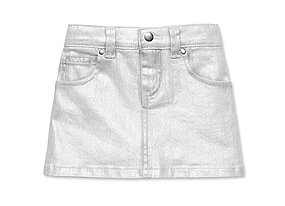 Kids Toddler Girl Metallic Skirt