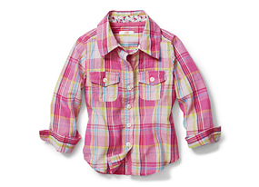 Kids Toddler Girl Plaid Shirt