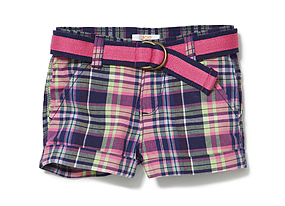 Kids Toddler Girl Plaid Short
